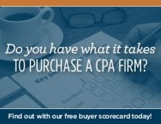 Do you have what it takes to buy a CPA practice?